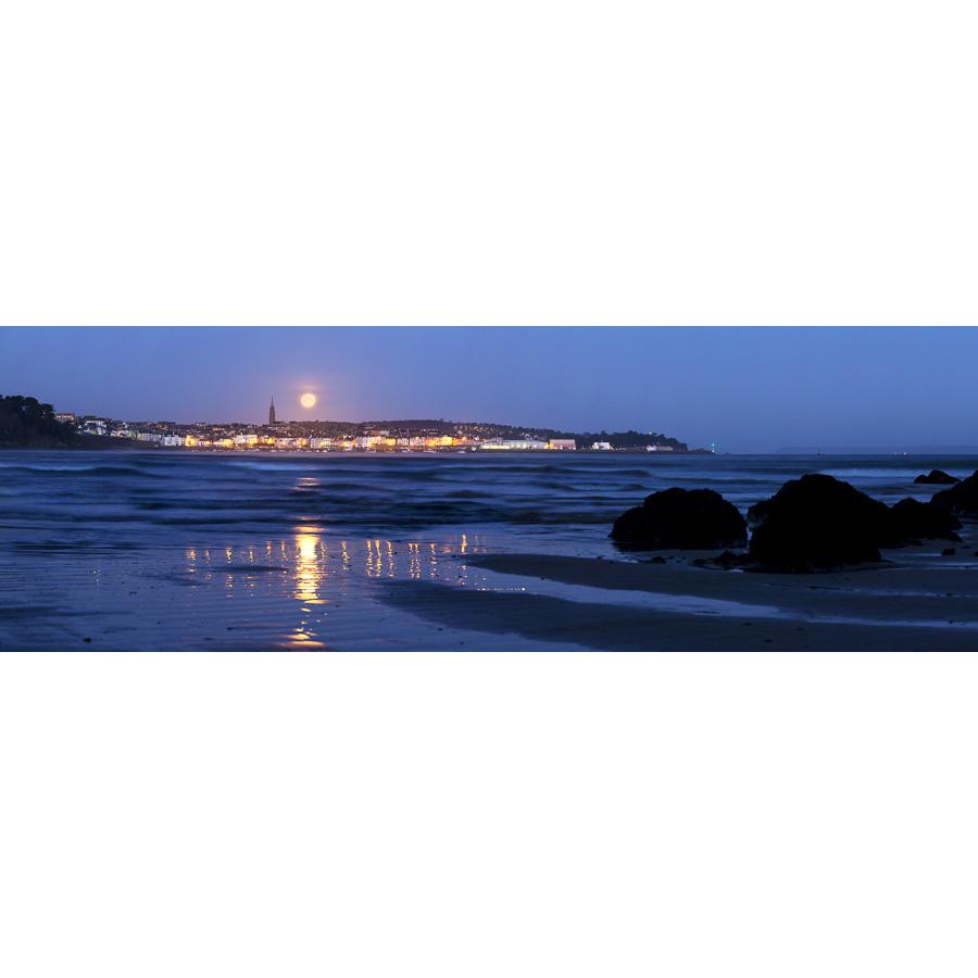 Douarnenez : Coucher de Pleine Lune d'équinoxe