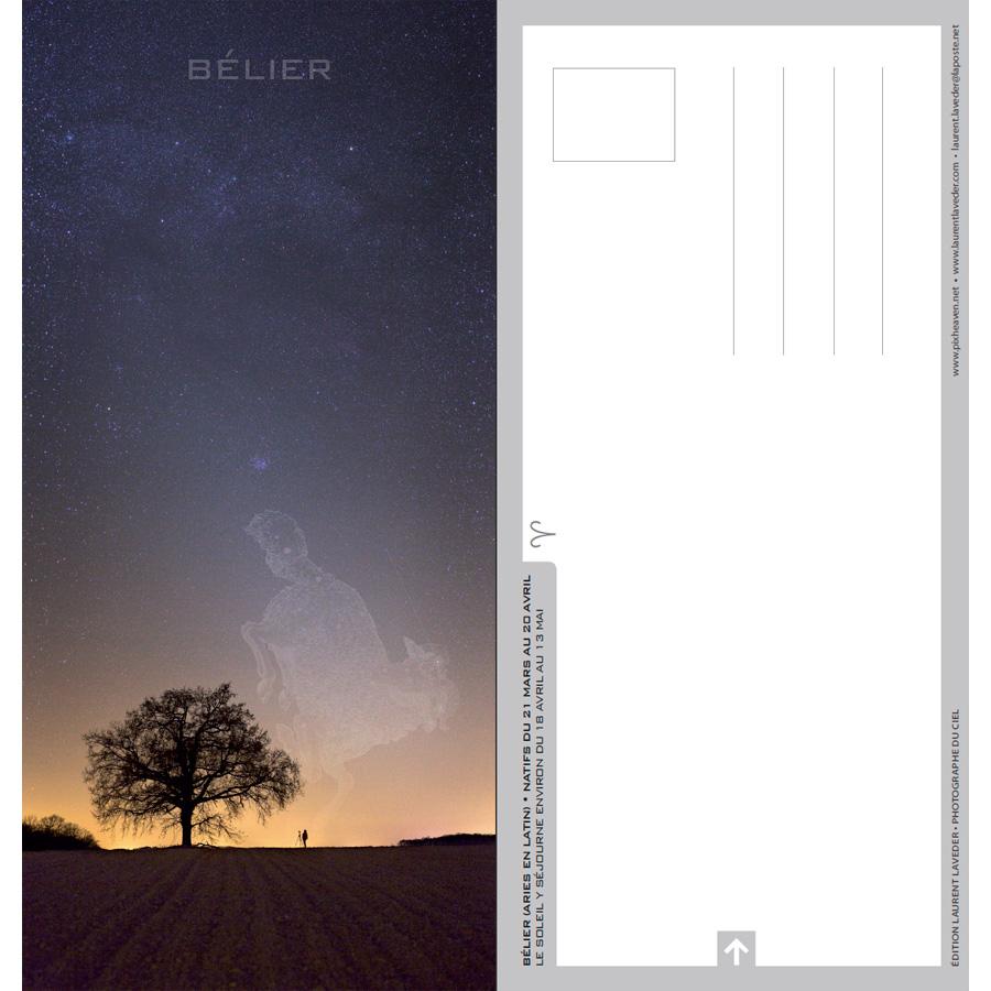 """Carte postale """"Constellation du zodiaque : Le Bélier"""""""