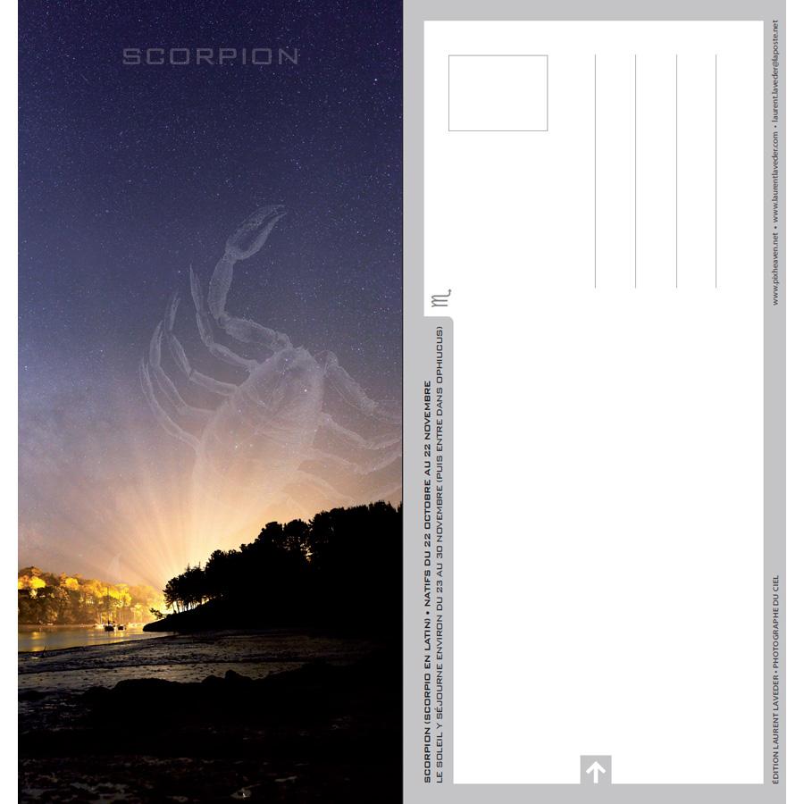 """Carte postale """"Constellation du zodiaque : le Scorpion"""""""