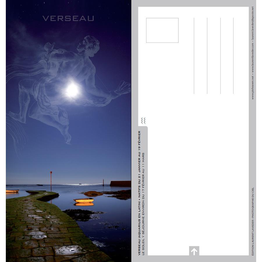 "Carte postale ""Constellation du zodiaque : le Verseau"""
