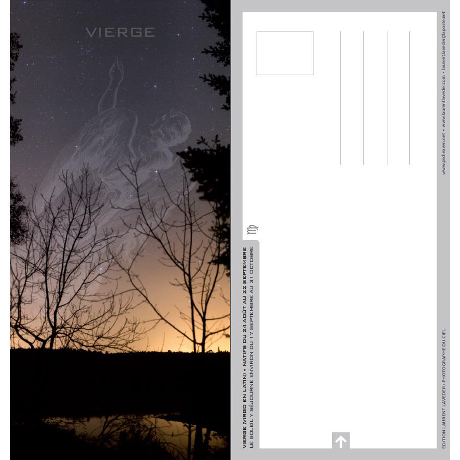 """Carte postale """"Constellation du zodiaque : la Vierge"""""""