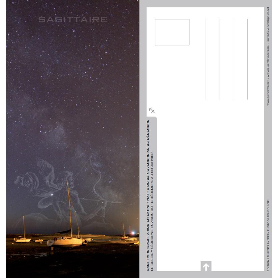 """Carte postale """"Constellation du zodiaque : le Sagittaire"""""""