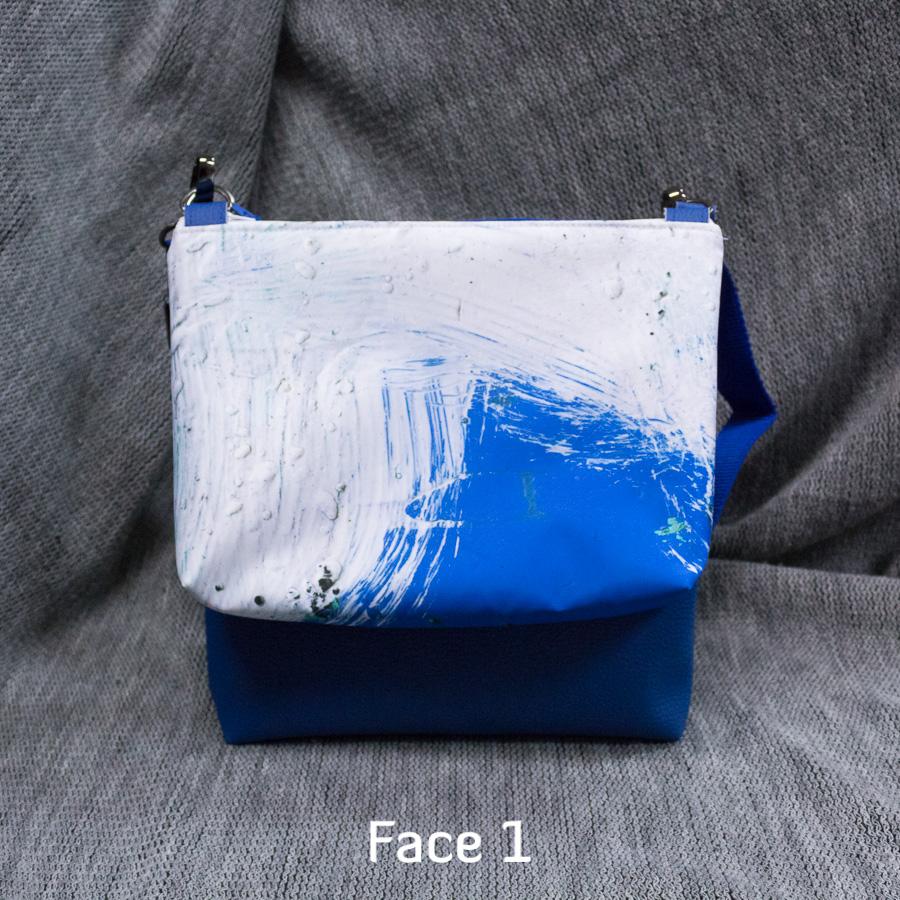 """Double sacaméléon """"Vague bleue"""""""
