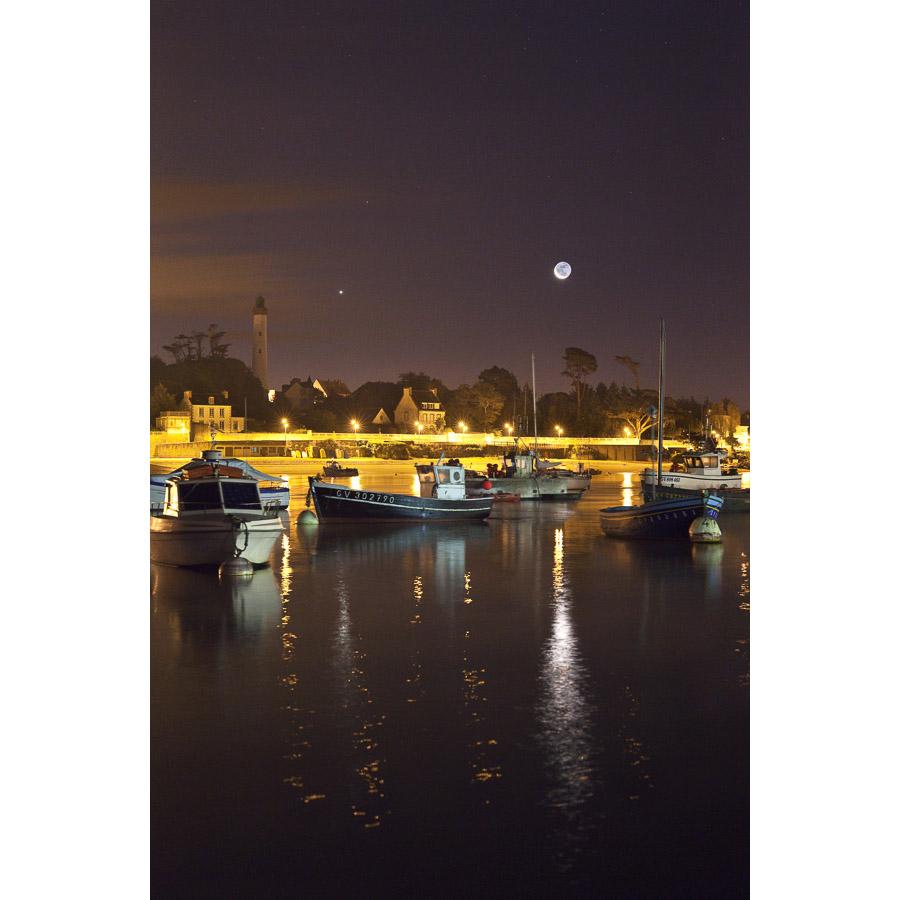 Bénodet : Vue du phare depuis Sainte-Marine