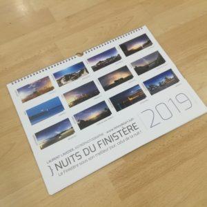 """Calendrier 2019 """"Nuits du Finistère"""""""