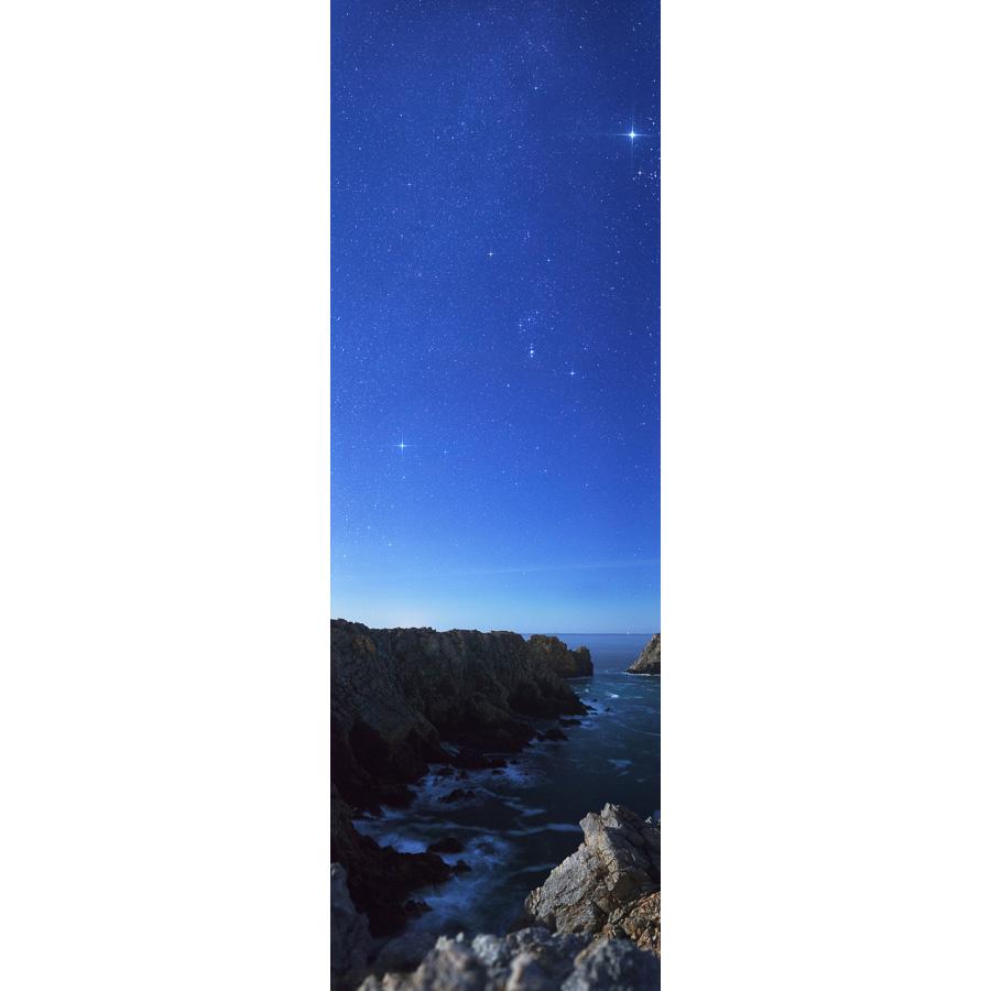 Pointe de Pen Hir : Orion au-desus des falaises