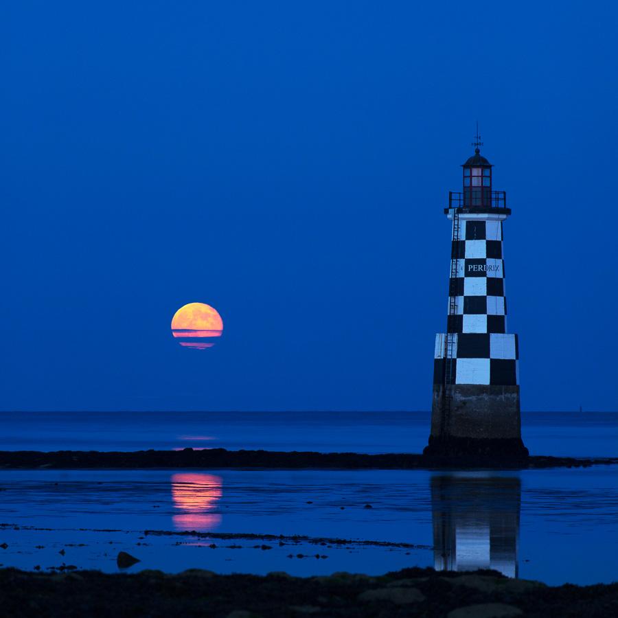 Île-Tudy : La Super Lune se lève