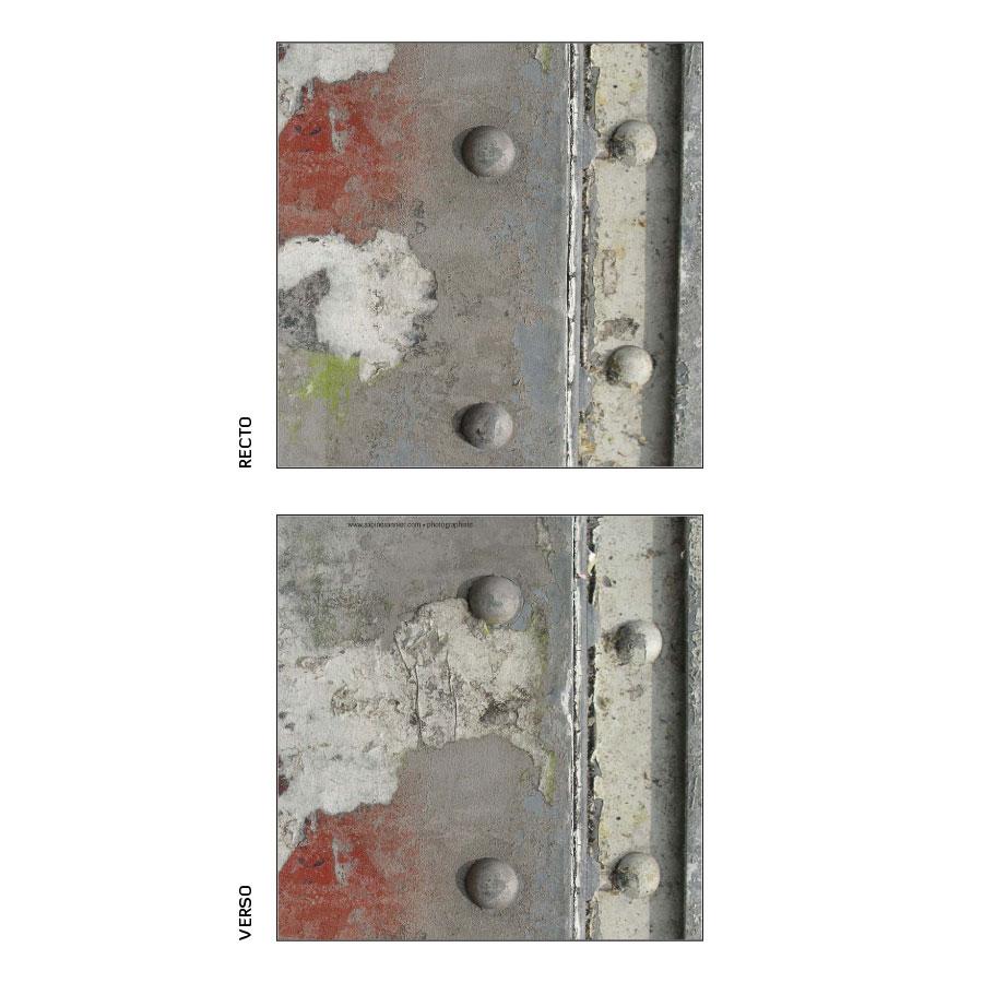 """Carnet """"4 rivets gris"""""""