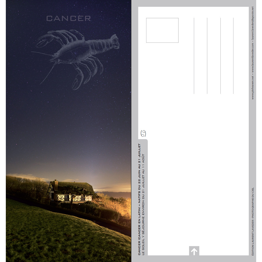 "Carte postale ""Constellation du zodiaque : le Cancer"""