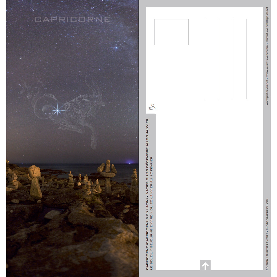 "Carte postale ""Constellation du zodiaque : le Capricorne"""