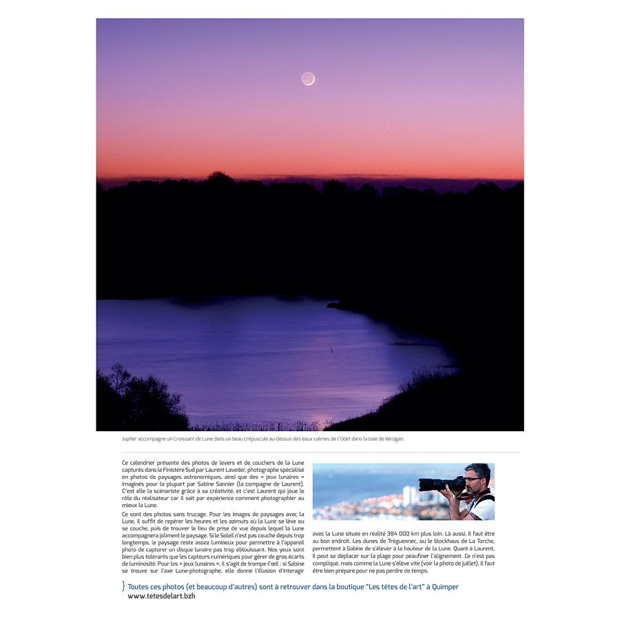 """Calendrier 2018 """"Paysages lunaires en Bretagne"""""""
