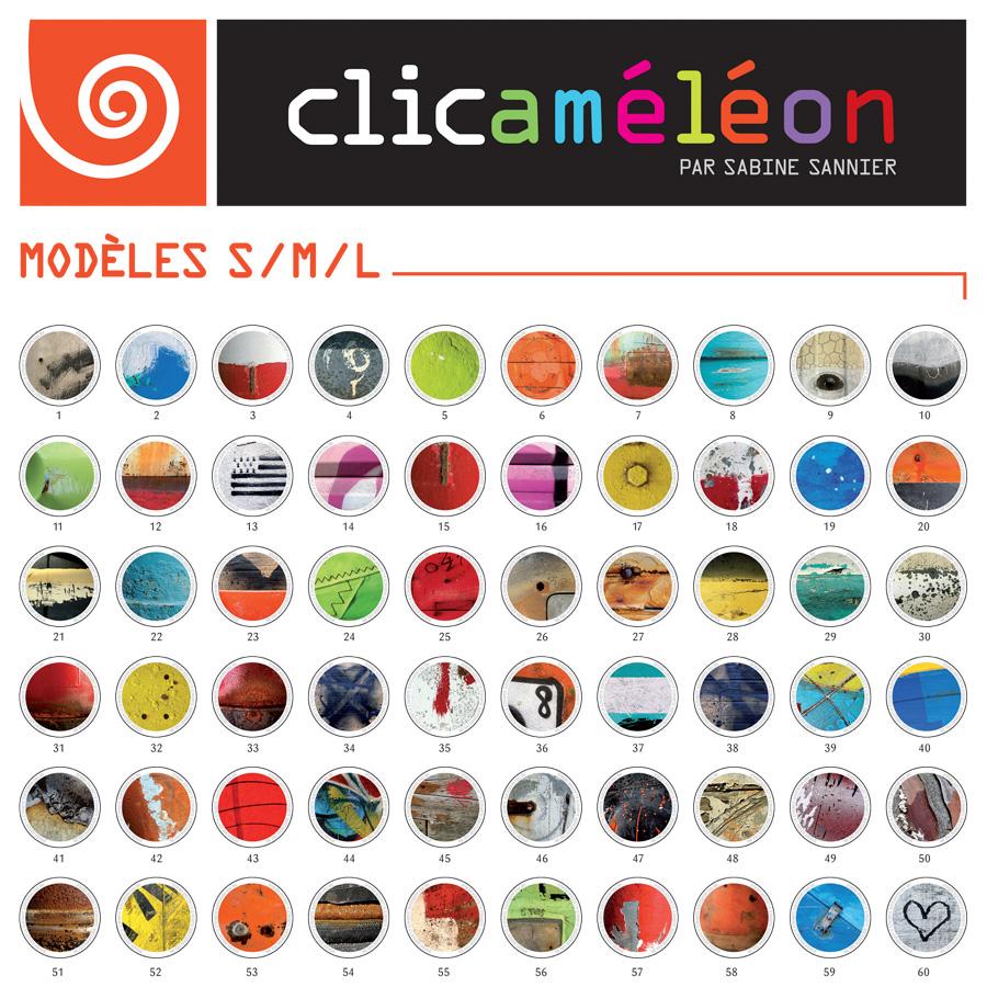 Clicaméléons en taille S, M et L