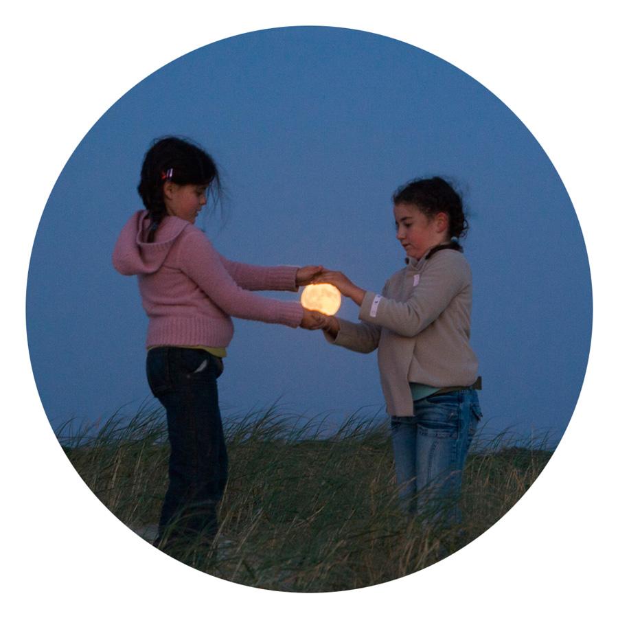 """Miroir de poche Jeux lunaire """"Enfants"""""""