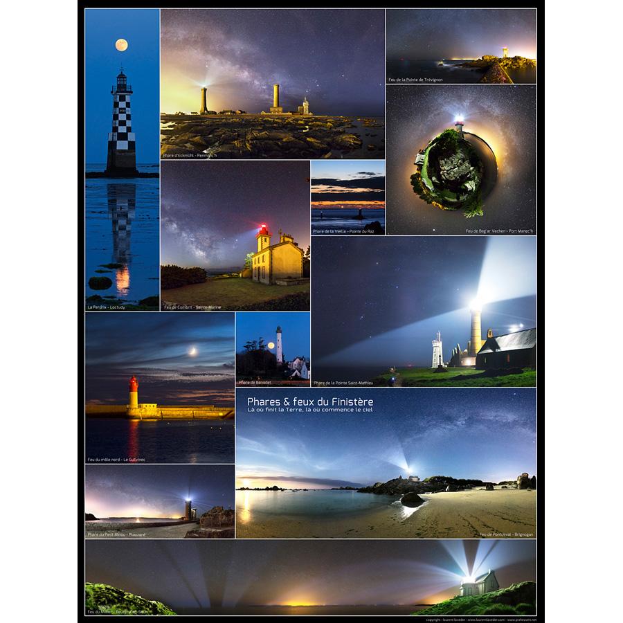 "Poster ""phares et feux du Finistère"""