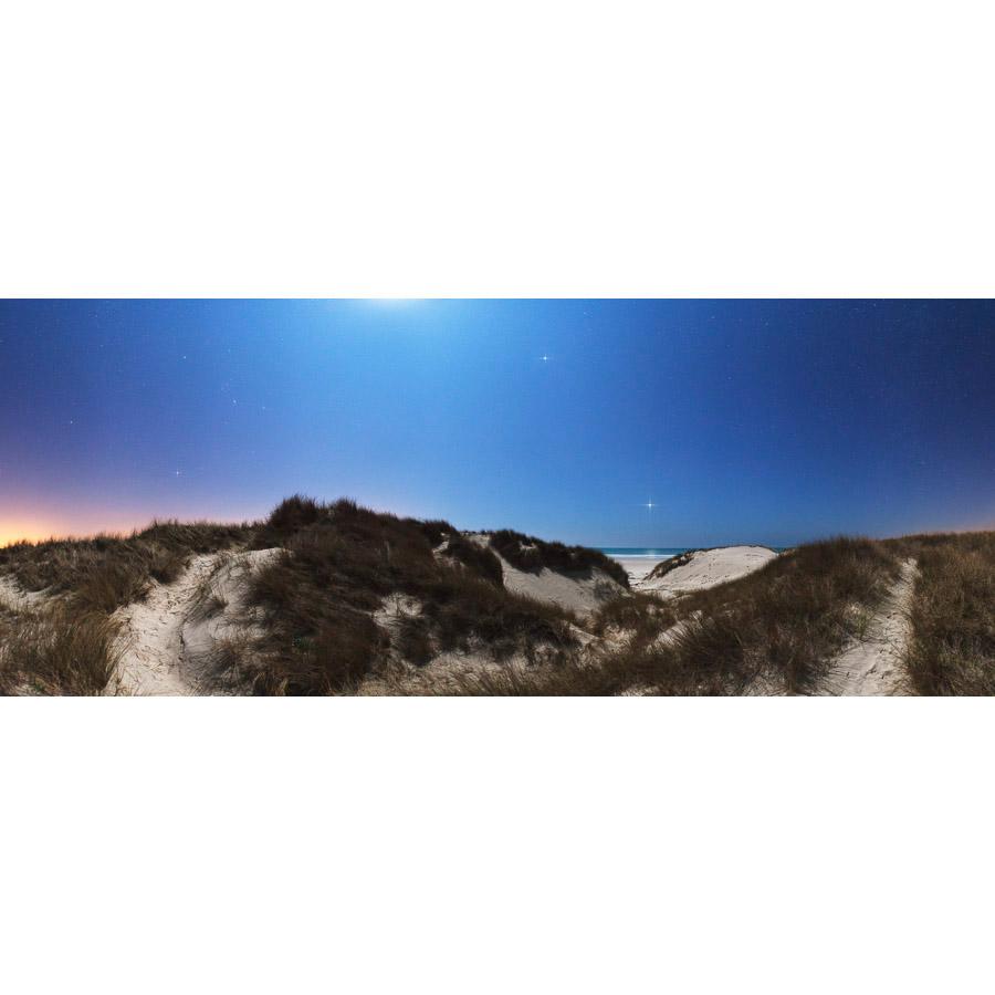 Tréguennec : Les dunes à la lumière de la Lune