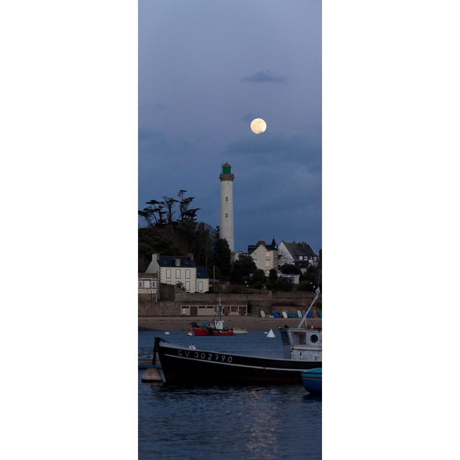 Bénodet : Pleine Lune et phare