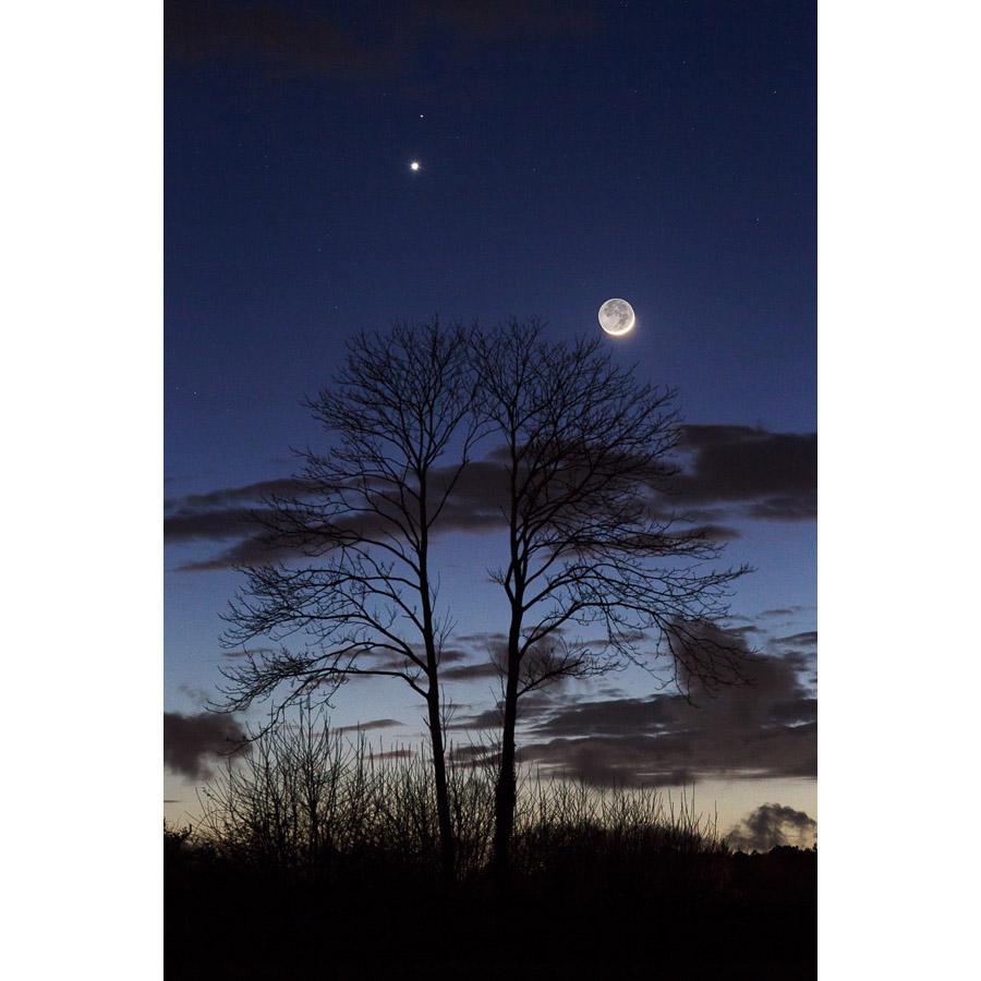 Pluguffan : Conjonction Lune-Vénus-Mars