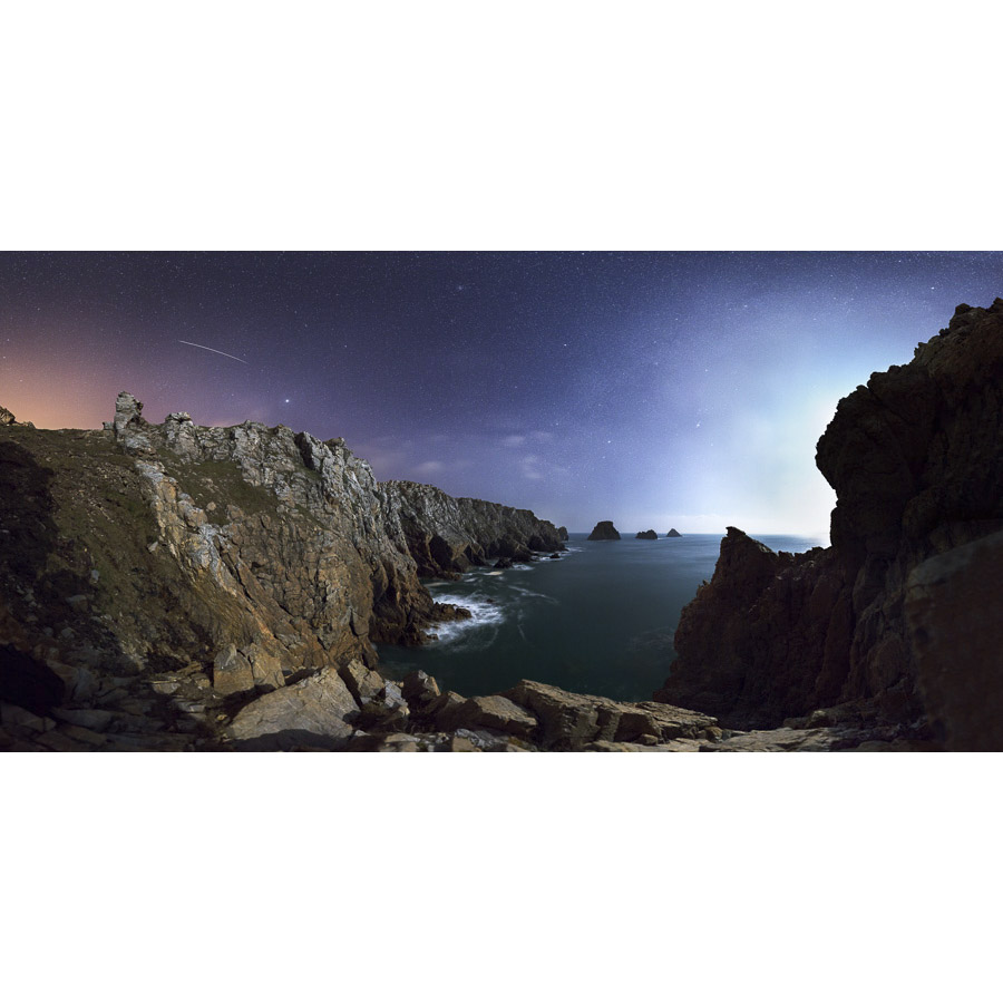 Pointe de Pen6Hir : Etoile filante sur les Tas de Pois