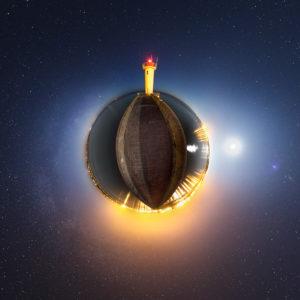 Audierne : digue du Raoulic façon petite planète