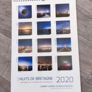 """Le calendrier 2020 """"Nuits de Bretagne"""""""