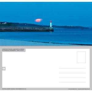 """Carte postale """"Lever de Pleine Lune sur le Raoulic à Audierne"""""""
