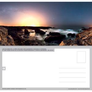 """Carte postale """"Côte Sauvage de Quiberon et plancton phosphorescent"""""""