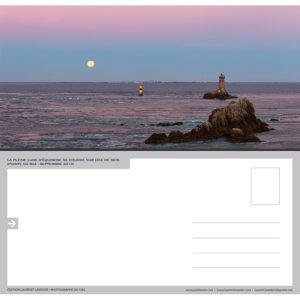 """Carte postale """"Coucher de Pleine Lune sur l'île de Sein"""""""