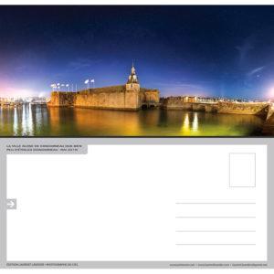 "Carte postale ""La Ville close de Concarneau de nuit"""