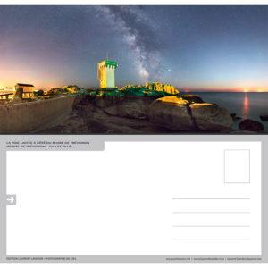 """Carte postale """"Le phare de Trévignon de nuit"""""""