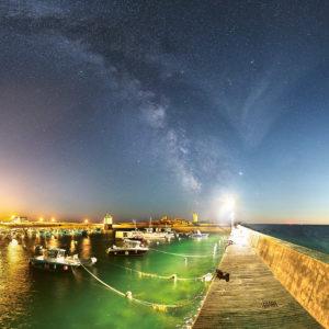 """Carte postale """"Le port de Trévignon de nuit"""""""