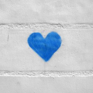 """Photo """"Coeur bleu"""""""