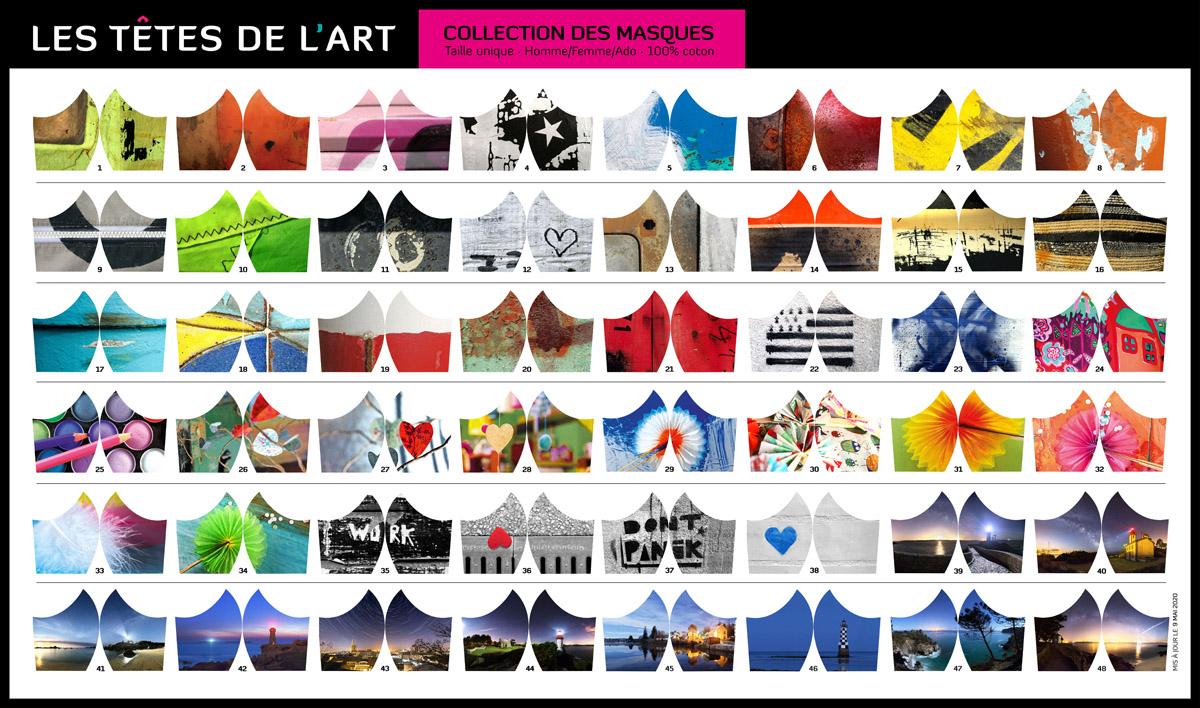 """Les 48 modèles de masques des """"Têtes de l'Art"""""""