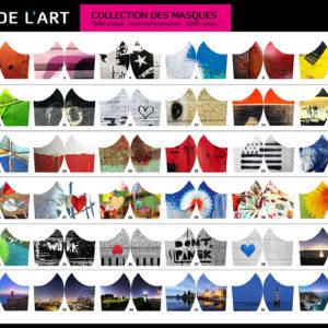 Les 44 modèles de masques des