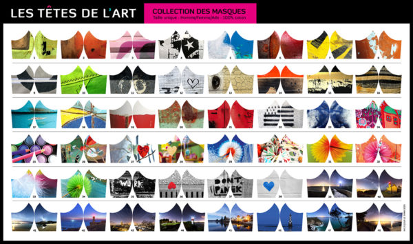 """Les 44 modèles de masques des """"Têtes de l'Art"""""""