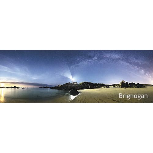 """Magnet """"La plage de Brignogan de nuit"""""""