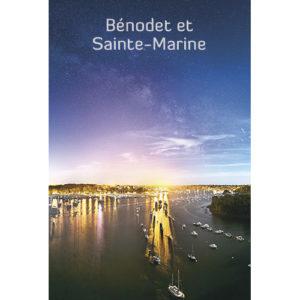 """Magnet """"Bénodet et Sainte-Marine de nuit"""""""
