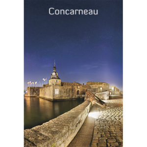 """Magnet """"La Ville Close à Concarneau de nuit"""""""