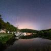 """Photo """"Port-Launay : Le port et l'Aulne de nuit"""""""