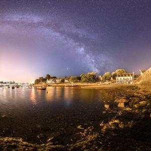 Sainte-Marine : plancton phosphorescent dans le port