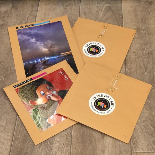 Photos à encadrer sous enveloppe