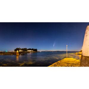 Douarnenez : Comète Neowise et Île Tristan