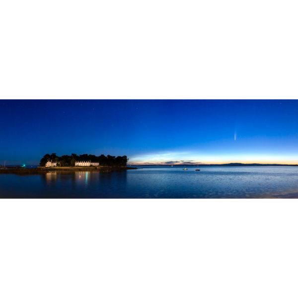 Douarnenez : Île Tristan, Comète Neowise et nuages noctulescents