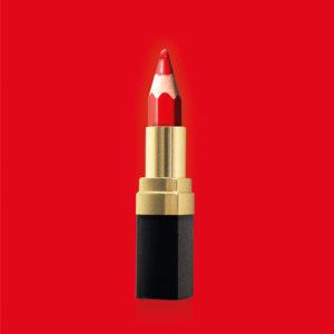 """Photo à encadrer A double sens """"Rouge à lèvres"""""""