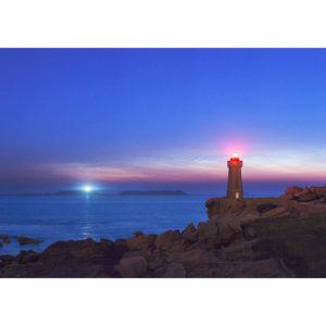 """Photo A4 à encadrer """"Ploumanac'h : nuages noctulescents"""""""