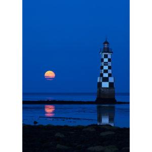 """Photo A4 à encadrer """"Île-Tudy : phare de la Perdrix à l'heure bleue"""""""