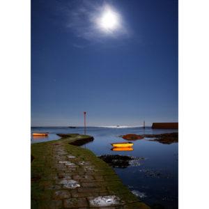 """Photo A4 à encadrer """"Penmarc'h : Cale de Saint-Pierre sous la Lune"""""""