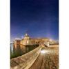 """Photo A4 à encadrer """"Concarneau : la Ville Close sous les étoiles"""""""