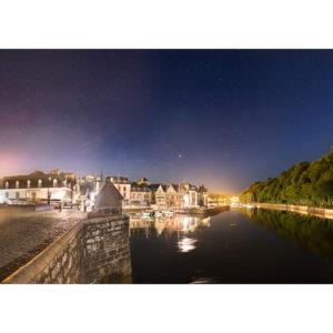 """Photo A4 à encadrer """"Auray : Saint-Goustan sous la Voie lactée"""""""