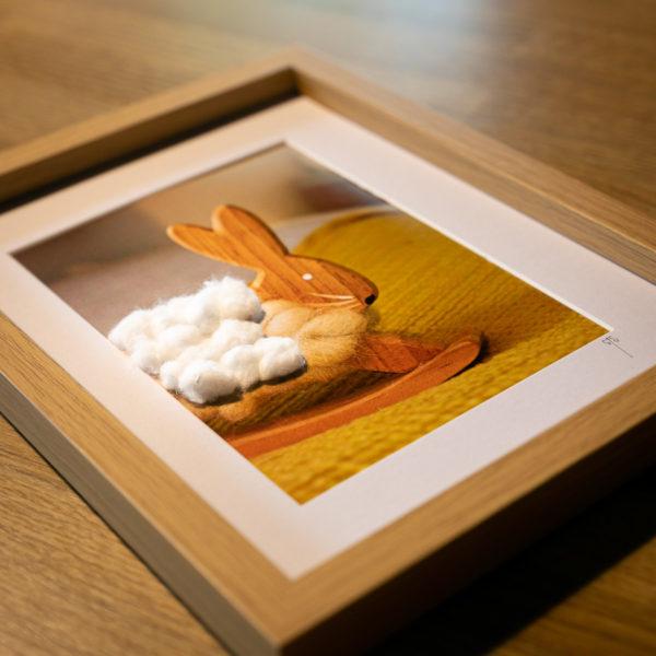 """Photo en volume """"Lapin-mouton"""" de la collection """"Sortir du cadre"""""""