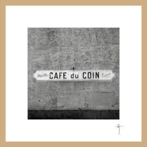 "Mini-cadre ""Café du coin"""